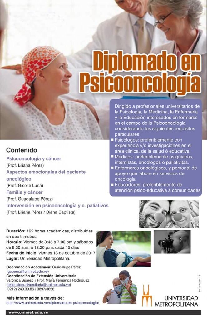 Diplomado Psicooncologia oct 2017