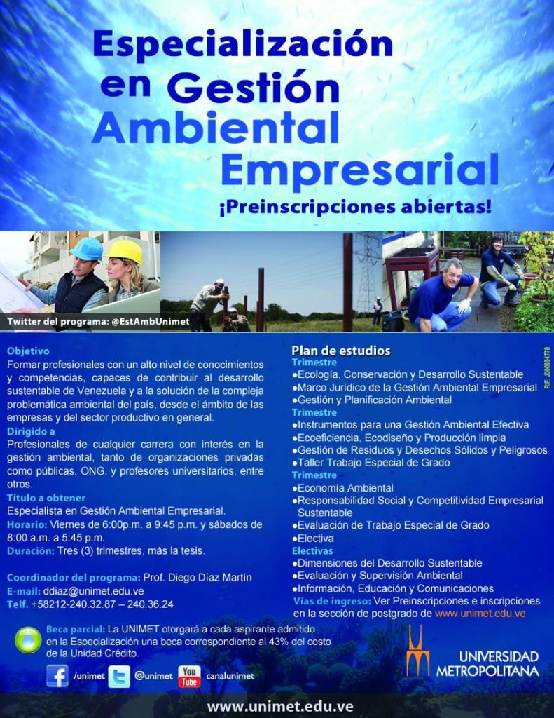 Especializacion en Gestión Empresarial