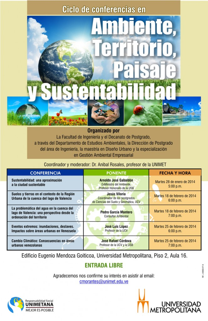 Ciclo Conferencias Amb Terr Paisaj y Sust ene feb 2014