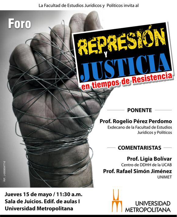 FORO Represion y Justicia  mayo 2014