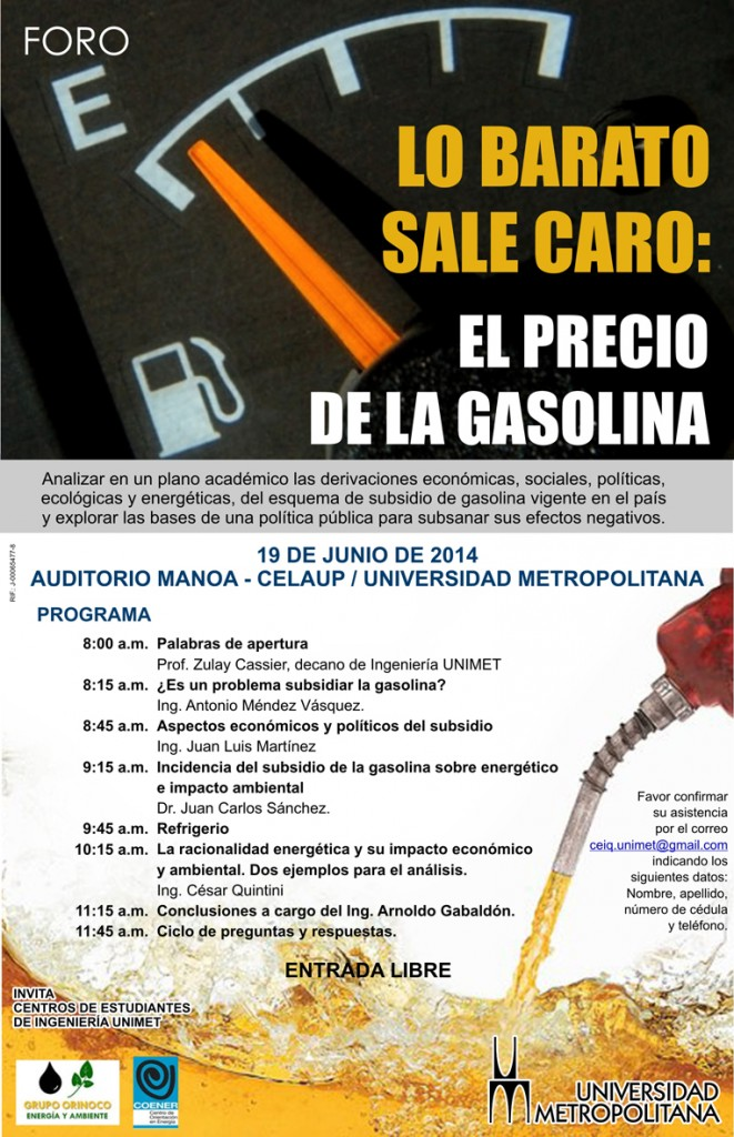 Foro Precio Gasolina jun 2014