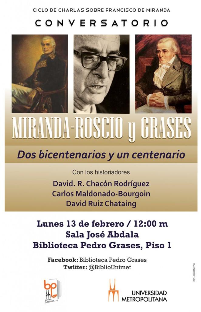 Conversatorio Francisco de Miranda 13 02 2017