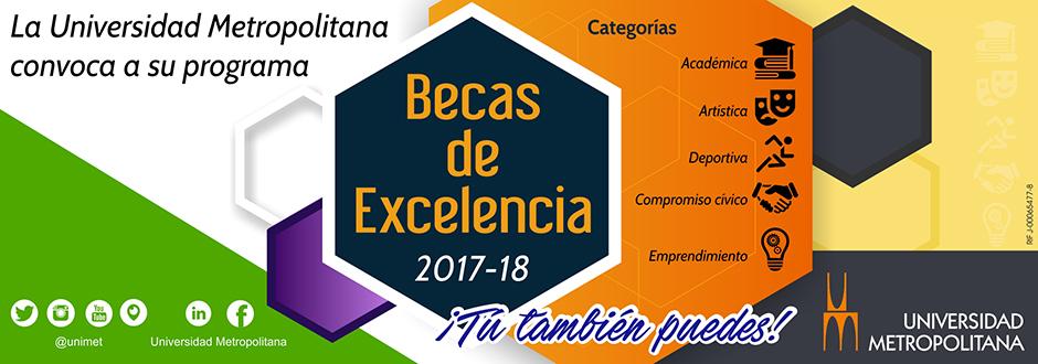 Banner Becas de Excelencia 2017-2018