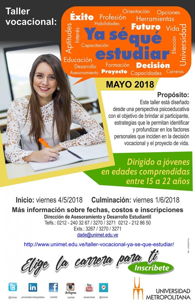 Taller Vocacional Mayo 2018
