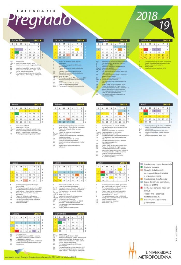 Calendario Pregrado 2018-19 (1) julio 10