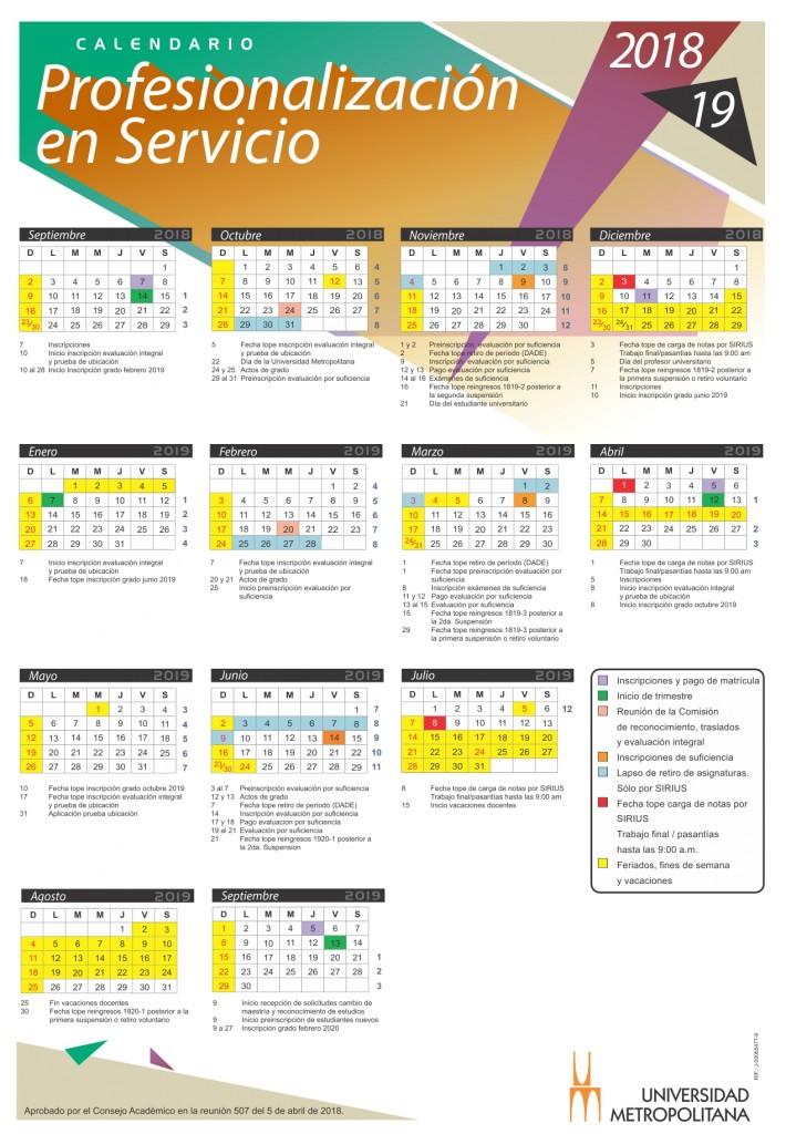 Calendario Prof Serv 2018-19