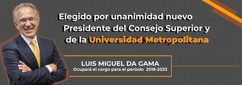 Banner nuevo presidente de la UNIMET