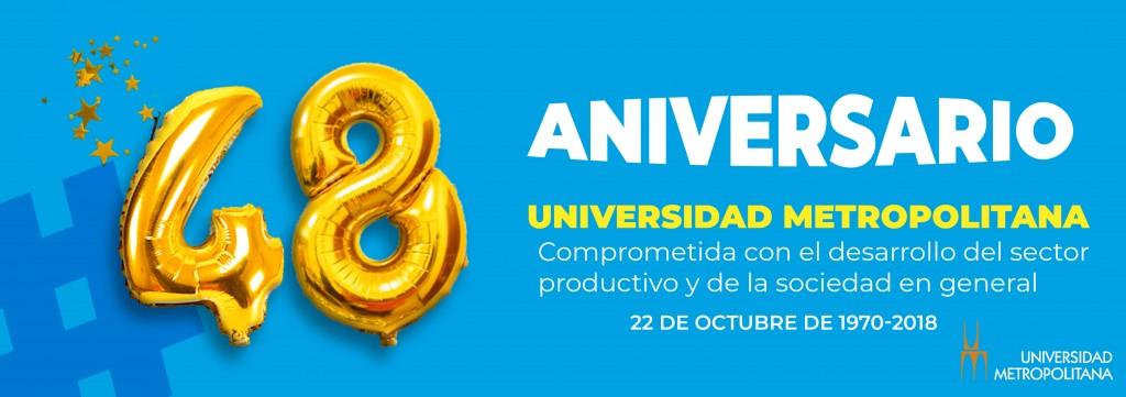 Banner Aniversario UNIMET 48 años