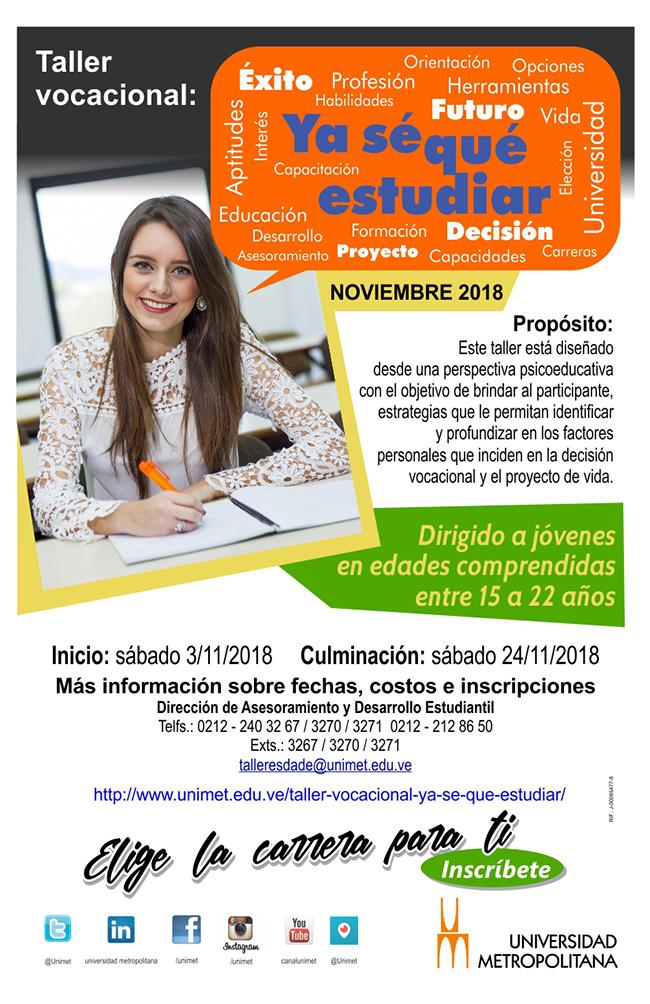 Volante taller Vocacional nov 2018