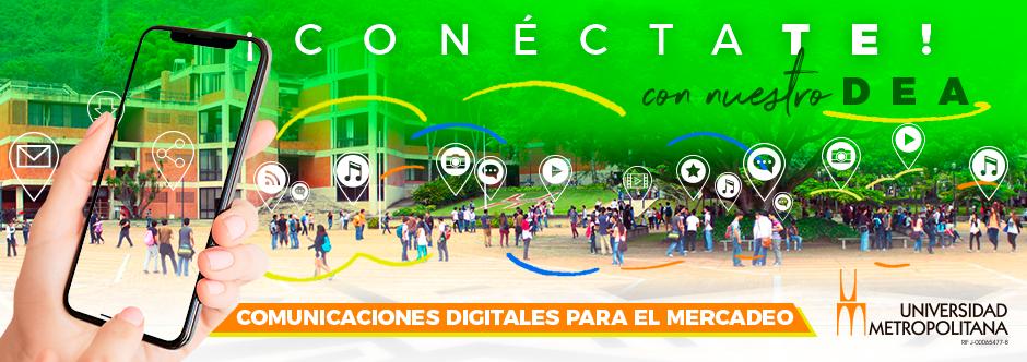 Banner Comunicaciones digitales para el mercadeo